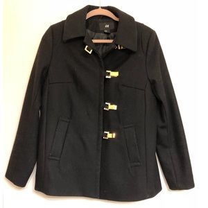 H&M 60s Style Wool Pea Coat, Size 10